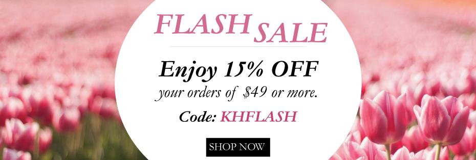 Flash Sale: 15% off